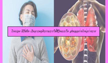 โรคปอด มีกี่ชนิด เกิดจากพฤติกรรมการใช้ชีวิตแบบใด ส่งผลอย่างไรต่อร่างกาย